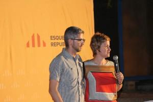 La diputada d'ERC Anna Simó va ser l'encarregada de presentar Miquel Salip. // Maria Roda